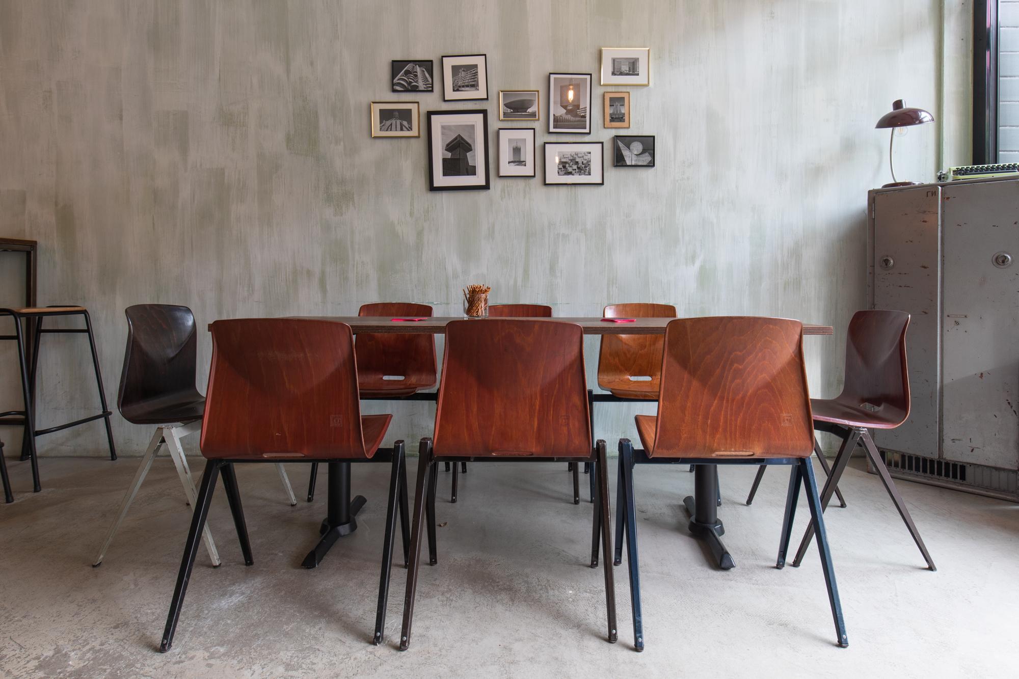Furniture at Muted Horn, a craft beer bar in Berlin Neukölln