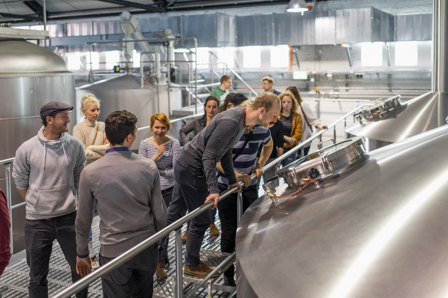 A brewery tour at Stone Brewing Berlin, the European headquarters of the US craft brewer in the former Marienfedorf gasworks - Photo Credit ©2017 Stefan Haehnel