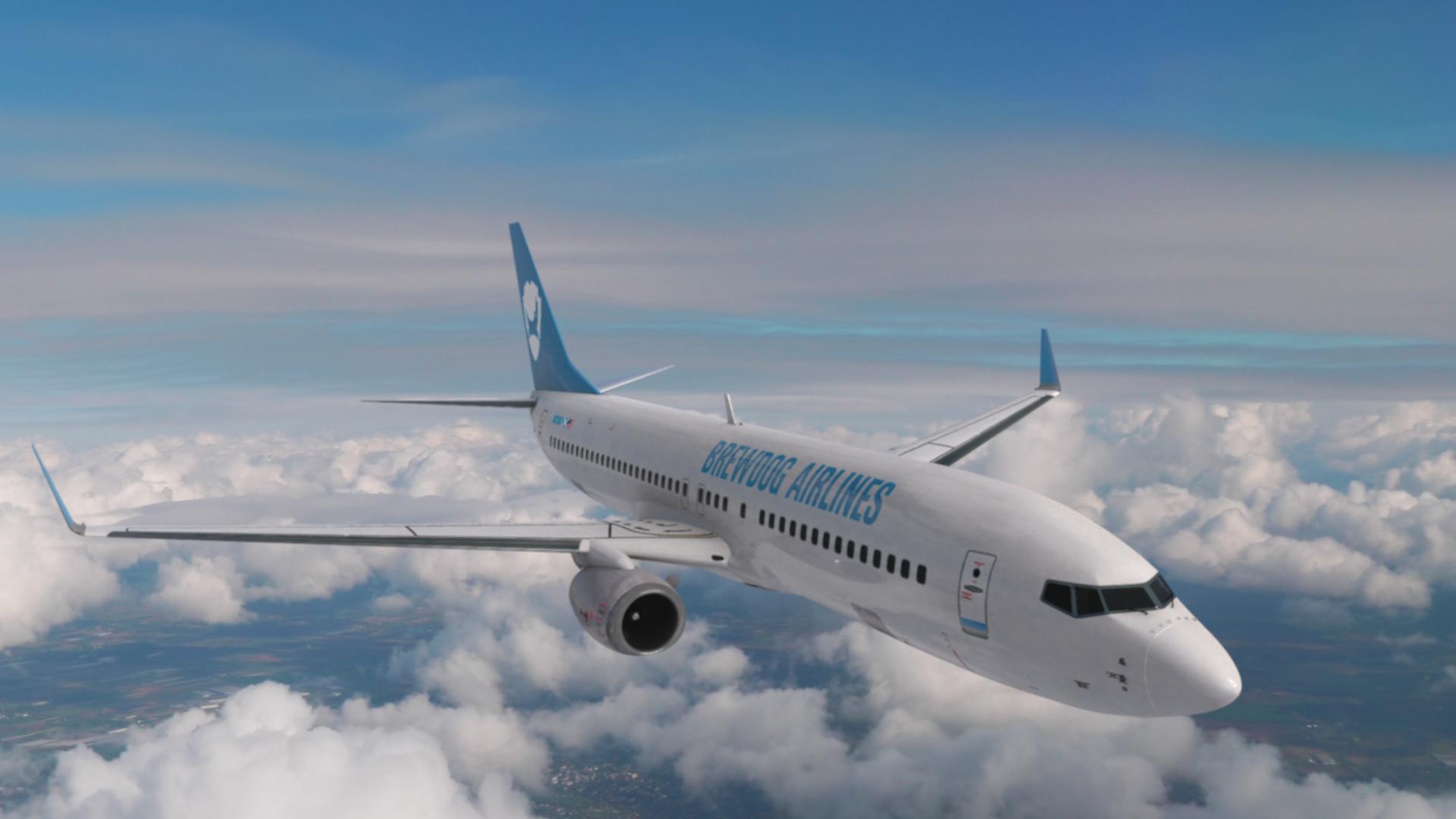 BrewDog Airlines plane