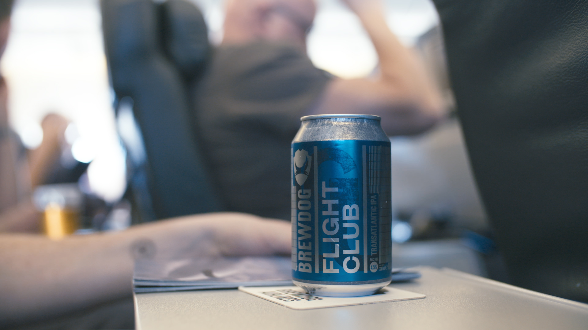 BrewDog Flight Club, a 4.5% IPA brewed specifically for the maiden flight on BrewDog Airlines