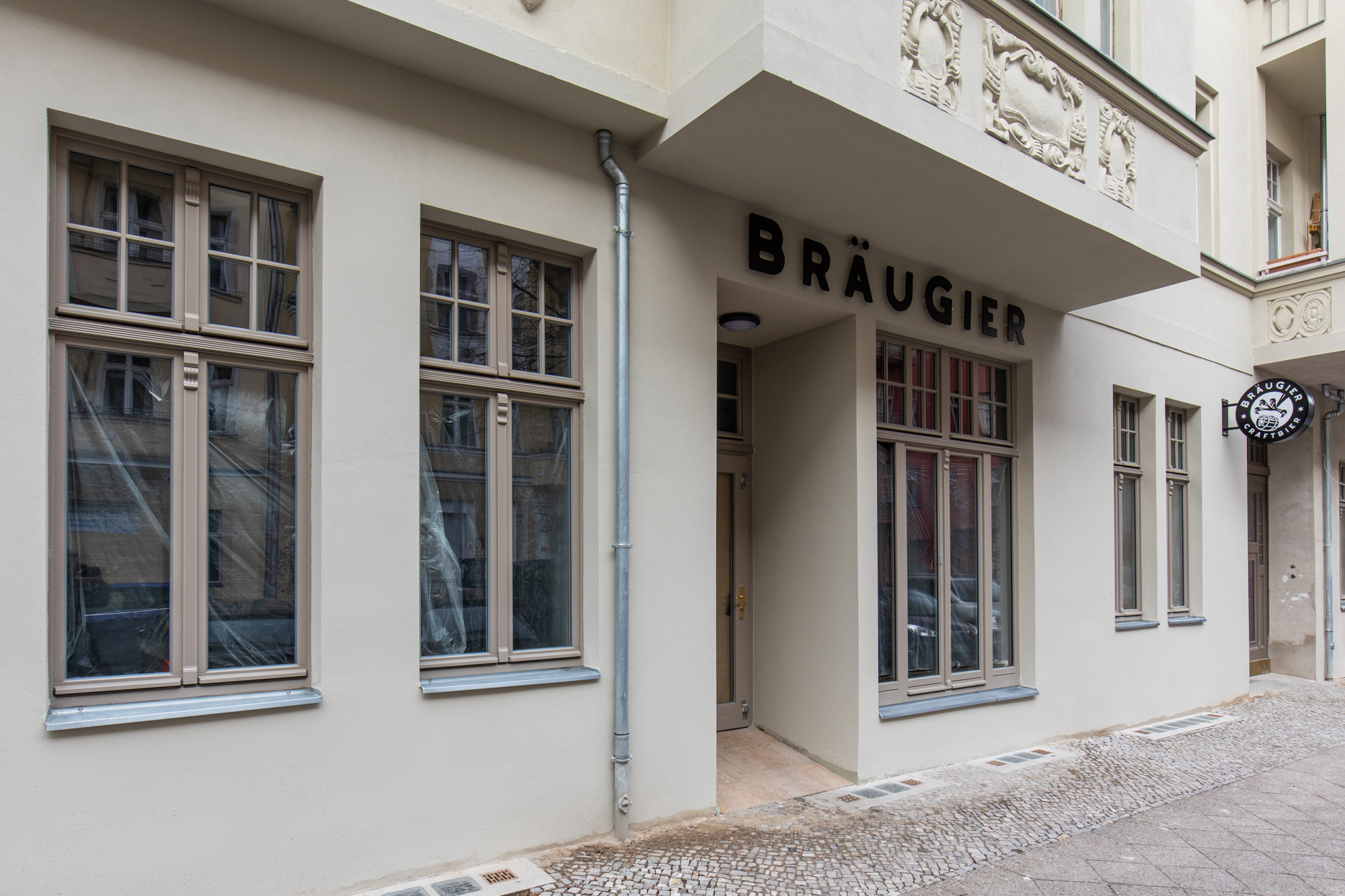 Bräugier BrewPub during renovations prior to the Bräugier BrewPub opening event on 2 April 2019