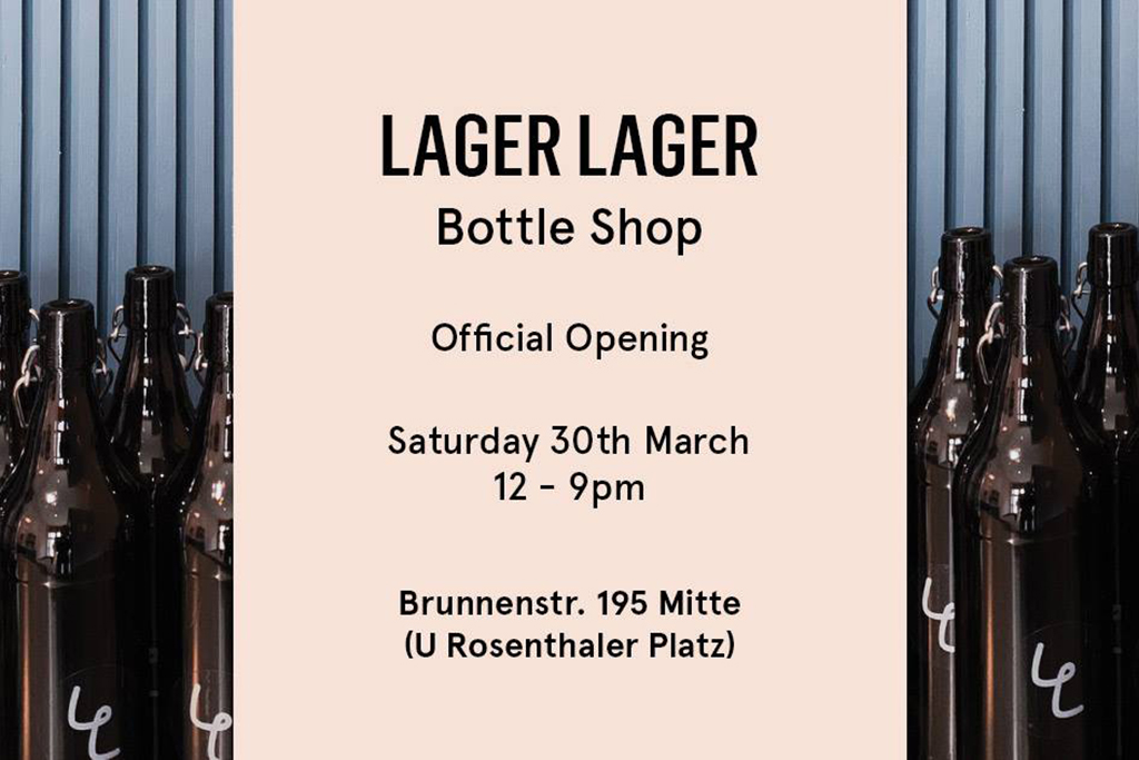 Lager Lager Bottle Shop Opening Flyer