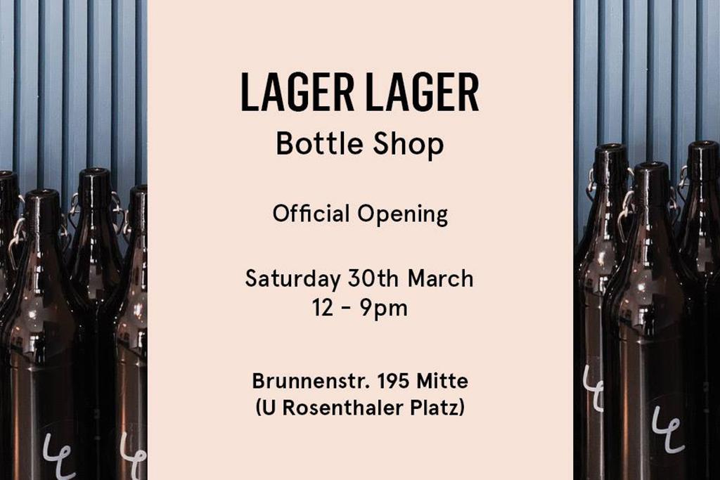 Lager Lager Bottle Shop Opening Flyer