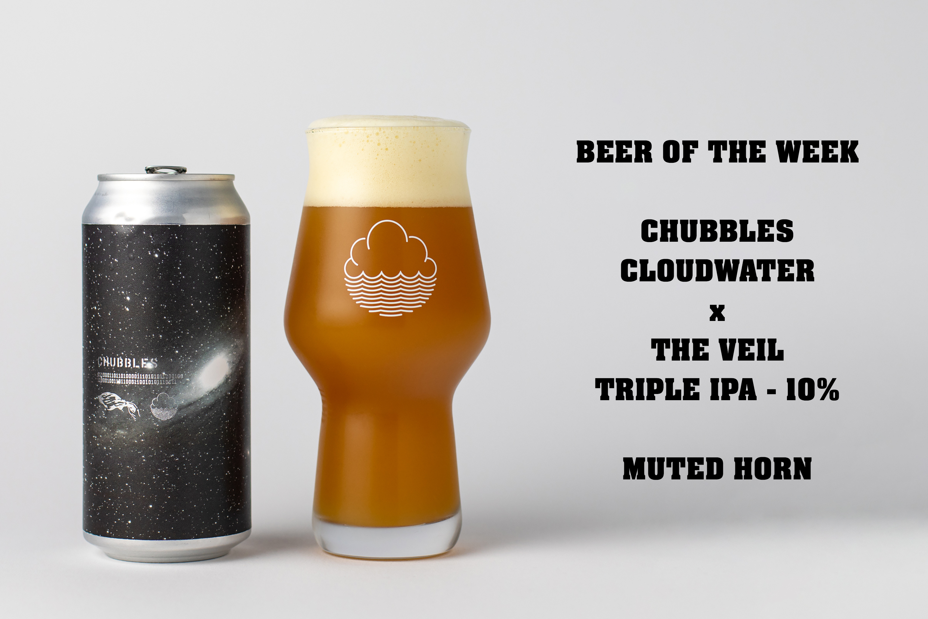 Chubbles is a 10% Triple IPA collaboration between Cloudwater Brew Co and The Veil Brewing Co.