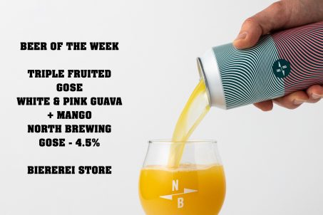 North Brewing Co, this Triple Fruited Gose w/ White Guava + Pink Guava + Mango