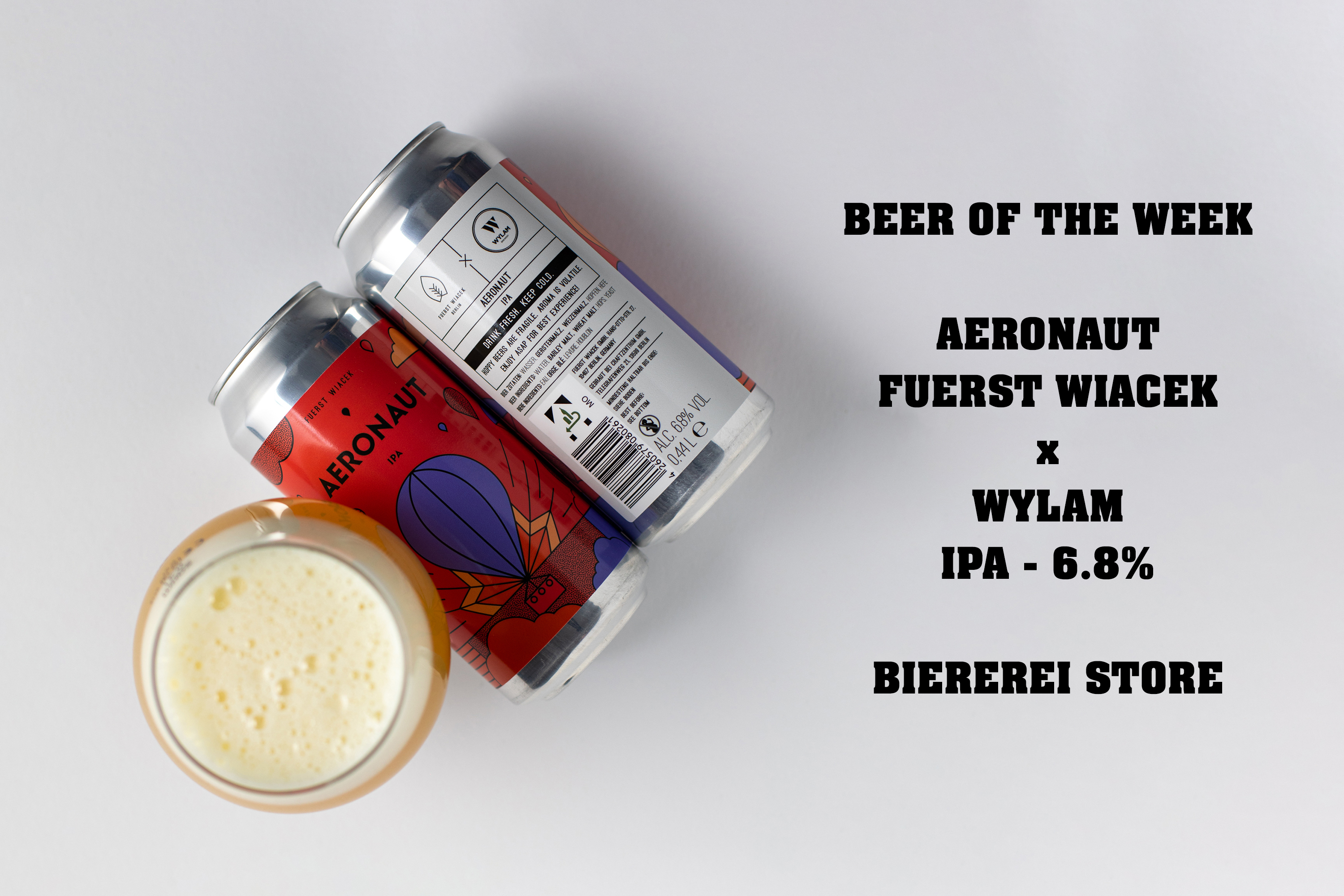 Aeronaut, a 6.8% IPA brewed by Fuerst Wiacek in collaboration with Wylam Brewery