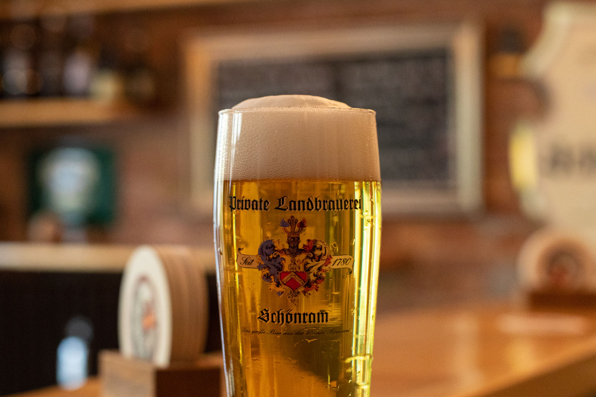 A glass of Schönramer Hell at Foersters Feine Biere in Berlin